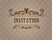Vintage invitation card — Stock Vector