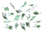 Flying Money (Euro) — Stock Photo
