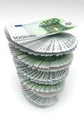 Swirled Euro's — Stock Photo