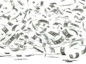 Flying Money (Dollar) — Stock Photo