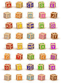 Cube Alphabet — Stock Photo