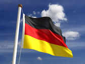 Germany flag (with clipping path) — Stock Photo