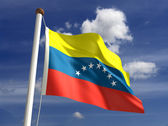 Venezuela flag (with clipping path) — Stock Photo