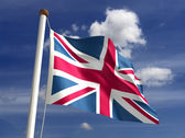 United Kingdom flag (with clipping path) — Stock Photo