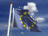 Europe flag (with clipping path) — Stock Photo