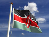 Kenya flag (with clipping path) — Stock Photo