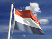 Netherlands flag (with clipping path) — Stock Photo