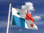 Panama flag (with clipping path) — Stock Photo