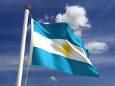 Argentina flag (with clipping path) — Stock Photo