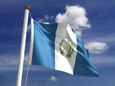 Guatemala flag (with clipping path) — Stock Photo