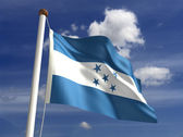 Honduras flag (with clipping path) — Stock Photo