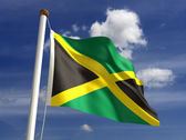 Jamaica flag (with clipping path) — Stock Photo