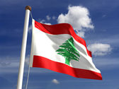 Lebanon flag (with clipping path) — Stock Photo