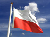 Poland flag (with clipping path) — Stock Photo