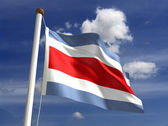 Costa Rica flag (with clipping path) — Stock Photo
