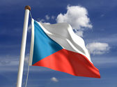 Czech Republic flag (with clipping path) — Stock Photo