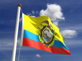 Equador flag (with clipping path) — Stock Photo