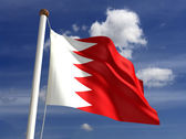 Bahrain flag (with clipping path) — Foto Stock