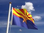 Arizona flag (with clipping path) — Stock Photo