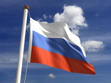 Russia flag (with clipping path)