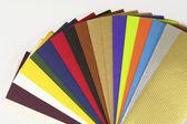 Paper samples — Stock Photo