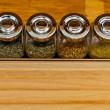 Spices in jars - Stockfoto