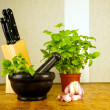 Foto Stock: Basil pesto