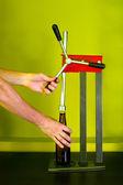 Hand kapselmaschine — Stockfoto