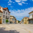 Empty central square of a little province town — Stock Photo