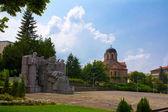 Hlavní náměstí ve městě veliki preslav — Stock fotografie