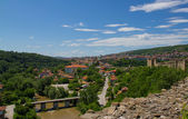 Mihail Kefalov street from Tsarevets castle — Stock Photo