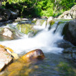 Little waterfall in Miykovtsi village 2 - Stock Photo