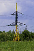 Supports of line of electricity transmissions — Stock Photo