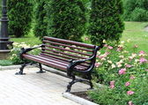 Decorative bench — Stock Photo