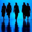 Women's fashion silhouettes — Stock Photo