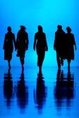 Women's fashion silhouettes — Stock Photo