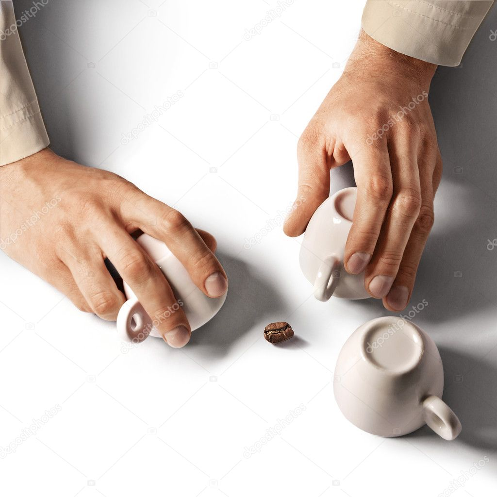 Shell game with three cups — Stock Photo #10781909