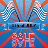 4 th of july — Stock Vector