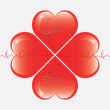Royalty-Free Stock Vector Image: Heart whit ekg  isolates on white