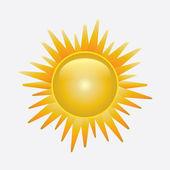 Sol brilhante isolado no branco — Vetorial Stock