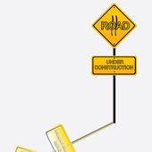 Bajo el signo de la construcción — Vector de stock