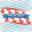 4th of july American.vector — Stock Vector