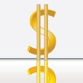 Abstract dollar sign — Stock Vector