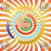 Abstrakt bunt circules — Stockvektor