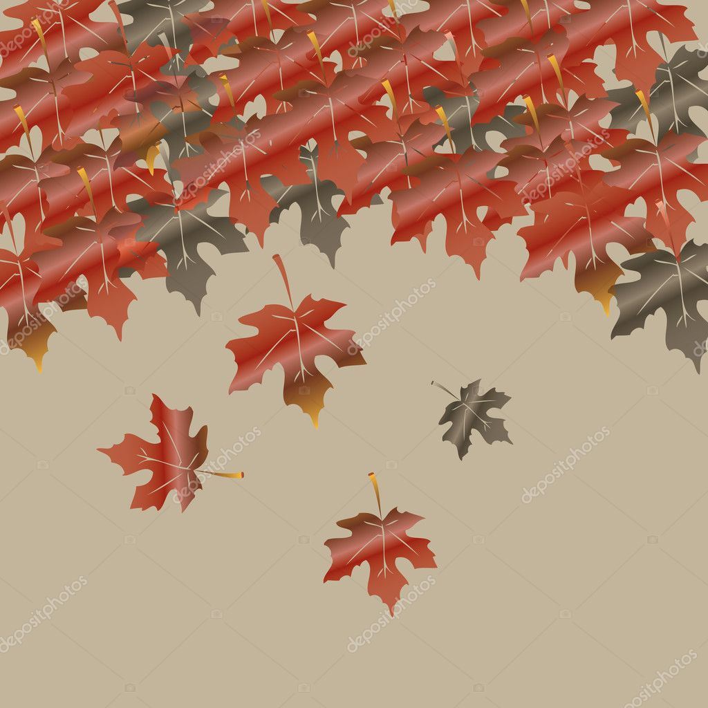 Abstract autumn vector background — Stock Vector #11742842