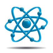Atom part.vector — Stock Vector