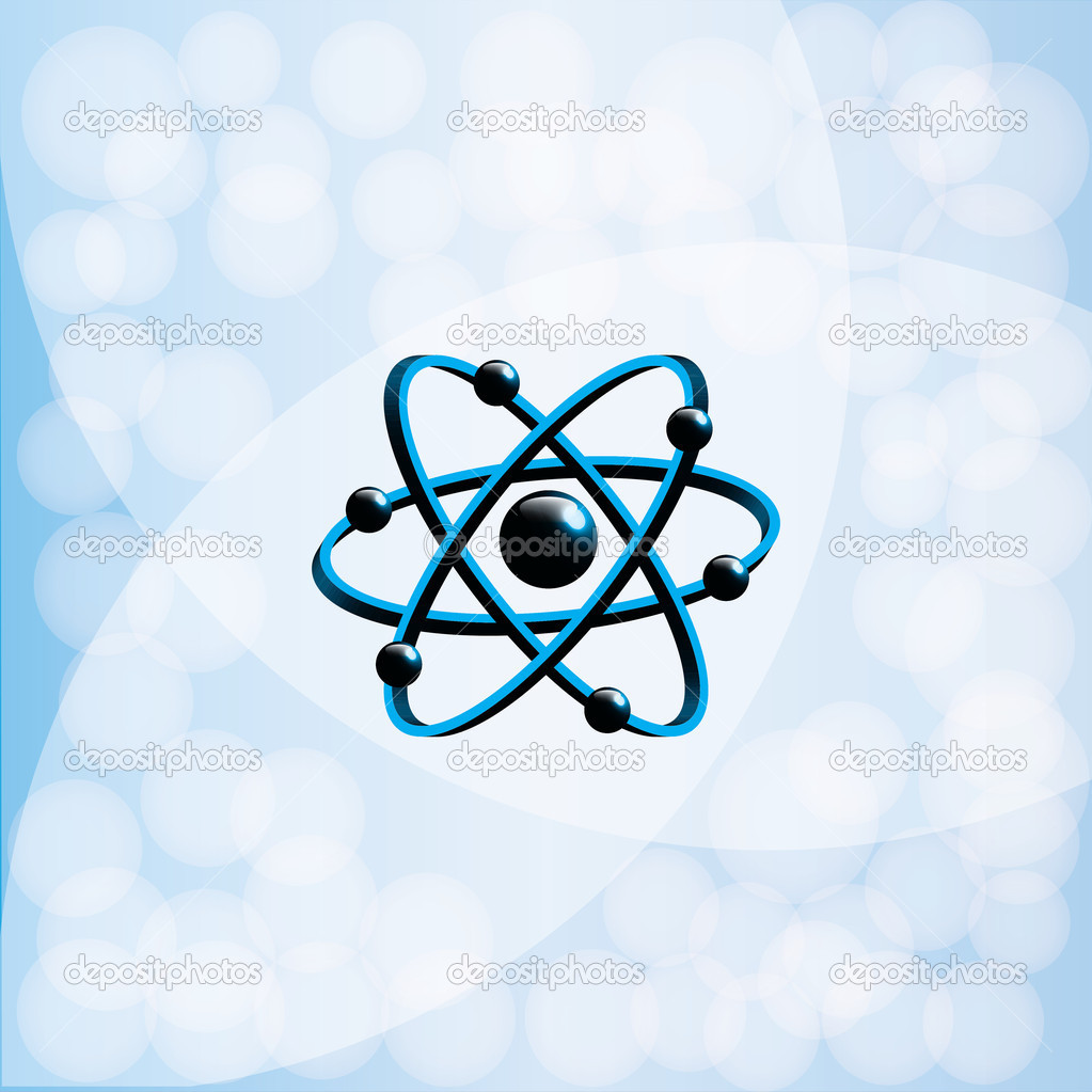 Molecule illustration over blue background.vector  Stock Vector #11972713