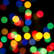 Photo of bokeh on black background — Stock Photo
