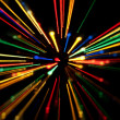 Abstract dynamic lights on a black background — Stock Photo