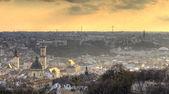 Cityscape at sunset — Stock Photo